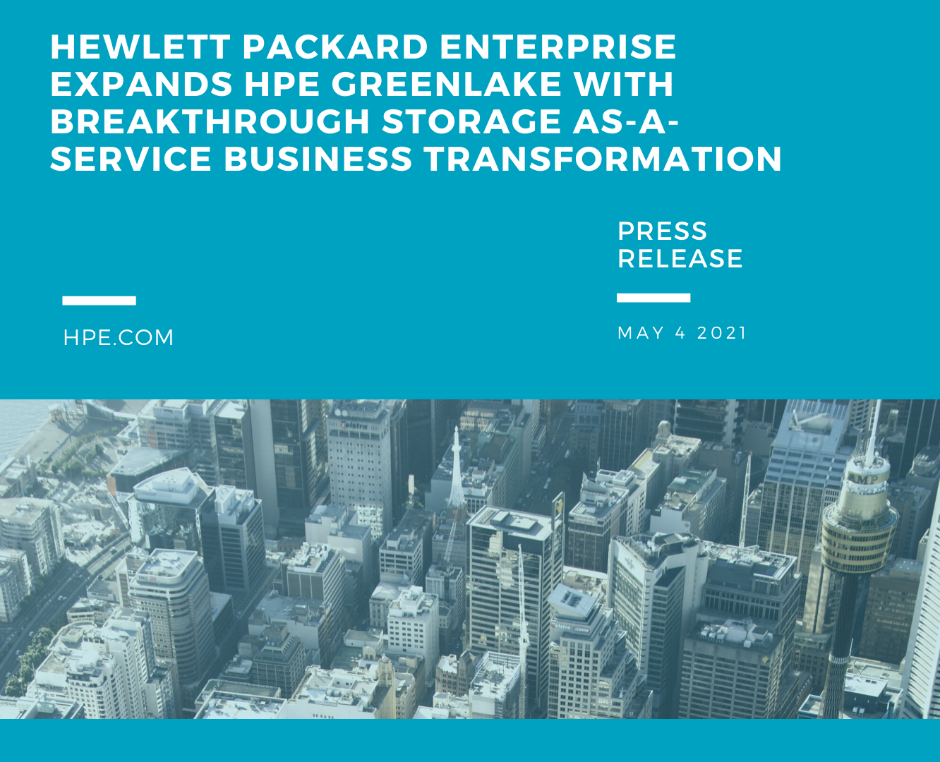 Hewlett Packard Enterprise expands HPE GreenLake with breakthrough storage as-a-service business transformation